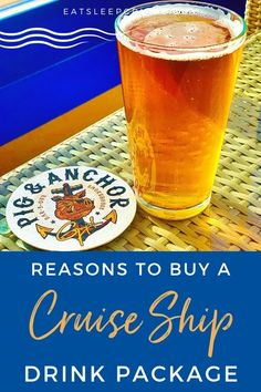 Why You Should Buy a Beverage Package on a Cruise - We weigh in on one of the most discussed cruise topics with our 10 reasons to buy a cruise ship drink package. #cruise #cruisetips #cruisedrinks #eatsleepcruise Cruise Tips, Cruise Vacation, Beverage Packaging, Alaska Cruise, Beverages, Drinks, Royal Caribbean, Packing Tips, Ship