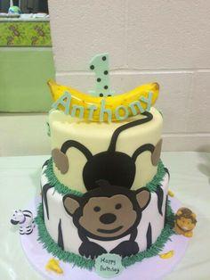 Monkey Theme 1st Birthday Cake!
