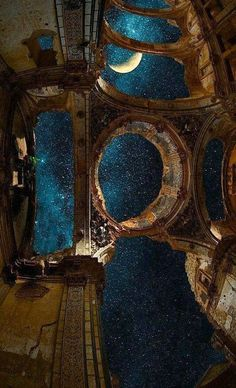 palast des nacht - Rebel Without Applause Beautiful Architecture, Art And Architecture, Aesthetic Art, Aesthetic Pictures, Street Art Banksy, Astronomy, Aesthetic Wallpapers, Fantasy Art, Beautiful Places