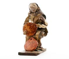 Vintage Ethnic Figurine Made in Spain 1930s Paper by PlumsandHoney