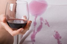 Stain removal tips - using white wine and hairspray