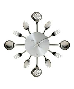 Take a look at this Silverware Wall Clock by Present Time on #zulily today!