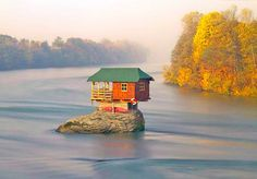 House on a rock in Serbia