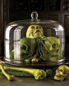 Glittered Skulls, Bones, and Bugs
