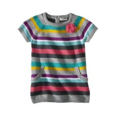 Grammy got Ella this pretty sweater dress with pink leggings for her pictures in October. So cute!