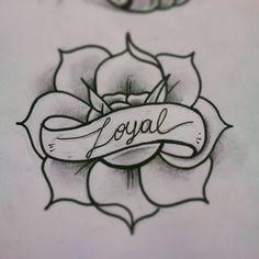 tattoo flash rose, loyalty.