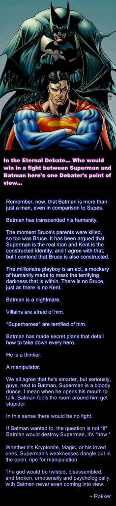 BATMAN OR SUPERMAN