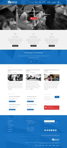 Educaz responsive #WordPress Theme is simple and clean educational #website template perfect for #school, university or college.