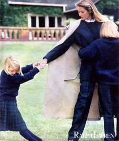 Love this vintage Ralph Lauren ad with all the girls in Black Watch Tartan.  1988