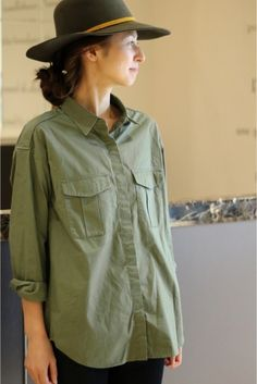 C/ダンプ ミリタリーシャツ
