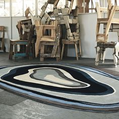 Xian Rugs are handmade and the detailing is carved by hand to add extra definition.