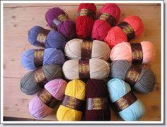 15 bollen special dk ~style craft om een granny deken van te haken roze/paars tinten