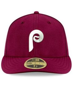 New Era Philadelphia Phillies Cooperstown Low Profile 59FIFTY Fitted Cap - Red 7 5/8