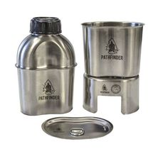 The Pathfinder Stainless Steel Canteen Cook Set is one of the best cooking kits on the market today. Well designed & made entirely from 304 stainless steel. Everything you needed to know about survival