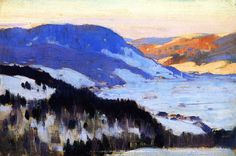 Clarence Gagnon - Overlooking the Valley of the Gouffre, Charlevoix 1915