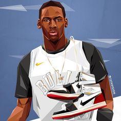 Michael Jordan Art, Michael Jordan Pictures, Michael Jordan Basketball, I Love Basketball, Basketball Posters, Basketball Legends, Nba Basketball, Nba Sports, Sports Art
