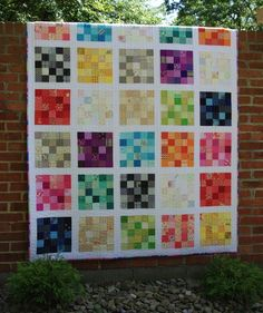 Quilt patterns - Five Squared Quilt Pattern – Quilt patterns Quilting Projects, Quilting Designs, Sewing Projects, Quilting Ideas, Patchwork Designs, Quilting Room, Sewing Ideas, Crochet Projects, Scrap Quilt Patterns