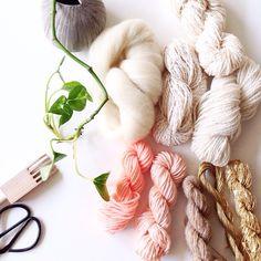 Vintage yarn weaving pack by Maryanne Moodie  www.maryannemoodie.com