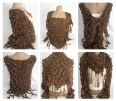 Hand knitted chocolate brown magic shawl by Arzus on Etsy, $55.00