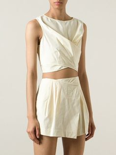 Marc By Marc Jacobs Wrap-style Cropped Top - Divo - Farfetch.com