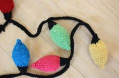 Knit Christmas Lights