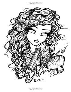 Tattoo Darlings: An Inky Girls Coloring Book: Hannah Lynn: Blank Coloring Pages, Fairy Coloring Pages, Adult Coloring Book Pages, Printable Adult Coloring Pages, Coloring Books, Hannah Lynn, Creation Art, Modern Artwork, Princesas Disney