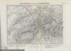 Die Schweiz mit den projectirten Eisenbahnen. Rar8956_ANNEXE3