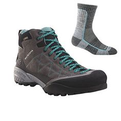 Scarpa Womens Zen Pro Mid GTX Boot Mid GreyLagoon w Sock  405 -- Want additional info? Click on the image. This is an Amazon Affiliate links.