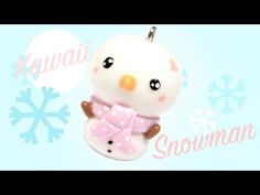 Snowman kawaii friday 152 polymer clay charm tutorial