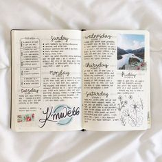"""kaylareads: """"[ 10.10.17 ] last week's weekly spread!! i recently found my coloring book by Kristina Webb, and i opened it and saw her signature from 2015 when i met her! so i decided to put it in my bullet journal :) """""""