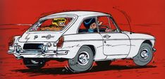 Citroen Ds, Peugeot 203, Automobile, Funky Art, Car Illustration, Car Drawings, Illustrations And Posters, Comic Artist, Cyberpunk