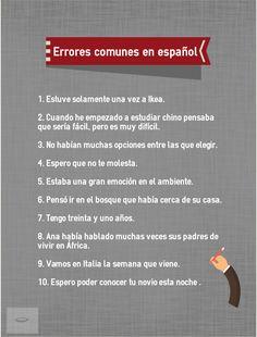 errores comunes estudiantes de español- Todo Pestañas-ELE