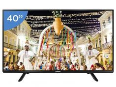 "TV LED 40"" Panasonic Viera TC 40D400B - Conversor Integrado 2 HDMI 1 USB"