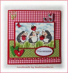 Erdbeer Karte Penny Black Strawberry Card Penny Black