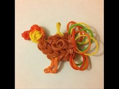 Thanksgiving TURKEY Charm on the Rainbow Loom -- Designed by Michele the Looney Loomer! - YouTube