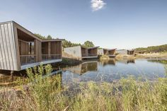 Les Echasses Eco-Lodge / Patrick Arotcharen Architecte - Patrick Arotcharen Architecte has designed an eco-lodge. 8 luxury lodges on stilts surrounding a private lake. Les Echasses is a typical boutique hotel opening July 2015. The place is privately owned and entirely designed and built around the idea to connect or reconnect you with the amazing nature of the South Landes / Basque Country giving you access to some of the best golfing and surfing experiences in Europe...