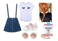 """))"" by maria-surova ❤ liked on Polyvore featuring WithChic, Chicnova Fashion, adidas, Moschino and MANGO"