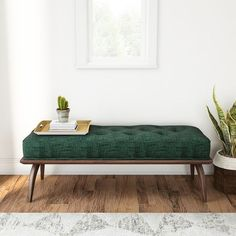 Shop Carson Carrington Mid-century Peacock Platform Bench - On Sale - Free Shipping Today - Overstock - 14163348