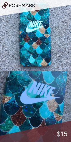 Nike Mermaid Scales iPhone Case New Nike Mermaid Scales Case! Features beautiful blue and gold Mermaid scale design. Gift for men and women :) Available for your iPhone 6 or 6S, iPhone 6 Plus / 6S Plus, iPhone 7, and iPhone 7 Plus! Ready to ship same or next day! Nike Accessories Phone Cases