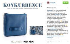 Konkurrence i samarbejde med ChriChri Instagram @chrichridk. Flot @markgiusti  Taske på højkant.