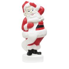 43 in. Large Santa with - The Home Depot Christmas Light Show, Christmas Items, Christmas Lights, Christmas Ornaments, Beautiful Christmas, Smurfs, Santa, Holiday Decor, Inspiration