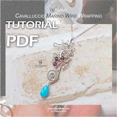 Tutorial Cavalluccio Marino Wire Wrapping – by Giorgia Iorio – Fili d'Argento Wire Wrapping, Valentino, Wraps, Etsy Shop, Bracelets, Shopping, Jewelry, Jewlery, Jewerly