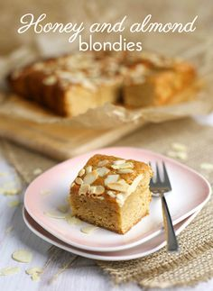 Honey and almond blondies - these are so easy, and could be made entirely with stuff I had in the house already! They're squidgy and moist, and the sweet honey flavour really comes through. These are going in the 'make regularly' pile!