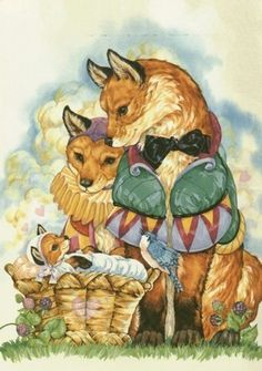 Fox Family ~ by Donna Race