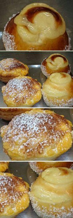 Bollos suizos Hoy ha preparado esta exquisita receta de bollos suizos , ¡ideal para el desayuno o la merienda! #bollos #suizos #postre #receta #recipe #casero #tartas #pastel #nestlecocina #bizcocho #bizcochuelo #tasty #cocina #cheesecake #helados #budin #flanes #pan #masa #panfrances #panes #panettone #pantone #panetone #navidad Si te gusta dinos HOLA y dale a Me Gusta MIREN... Sweet Desserts, Dessert Recipes, Bread Recipes, Cooking Recipes, Salty Foods, Pan Dulce, Yummy Appetizers, Sweet And Salty, Cocktail Recipes