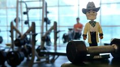 Don't be a dumbbell! Get pumped up for #HatterChallenge! Watch for John B. videos starting 6/1. #gottahavegoals
