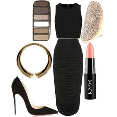 """""""All Black Everything!"""" by luxelindslu on Polyvore"""