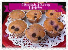 Simple fruit muffins, via Organized Island Cherry Recipes Breakfast, California Food, Southern California, Cherry Muffins, Bisquick Recipes, Chocolate Chip Muffins, Chocolate Cherry, Dessert Recipes, Desserts