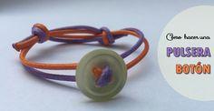 Cómo hacer una pulsera con un botón - http://www.manualidadeson.com/una-pulsera-boton.html