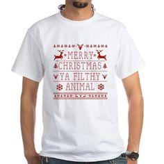 merry christmas ya filthy animal T-Shirt on CafePress.com #merrychristmasyafilthyanimal #merrychristmas